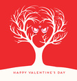 Happy Valentines Day Love birds vector image vector image