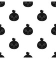 hen muzzle icon in black style isolated on white vector image vector image
