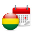 Icon of national day in bolivia vector image vector image