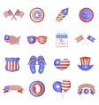 Independence day icons set cartoon style vector image vector image