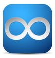 infinity symbol eeverlasting infinite or cycle vector image