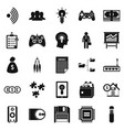 it project icons set simple style vector image vector image