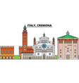 italy cremona city skyline architecture vector image vector image