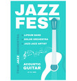 jazz fest live music poster template concert vector image