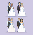 just married design vector image