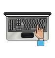 laptop pc techonlogy vector image vector image