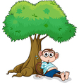 Monkey under a tree vector image vector image