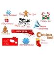 New Year and Chrismas symbols vector image
