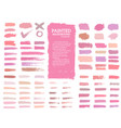 painted grunge stripes set red and pink labels vector image