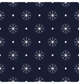Pattern with snowflakes seamless vector image vector image