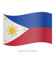 philippines waving flag icon vector image