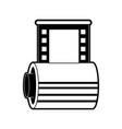 photographic roll isolated vector image