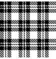 pixel black and white tartan plaid vector image