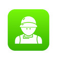 plumber man icon green vector image vector image