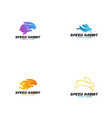 rabbit logo teplate animal logo concept vector image vector image