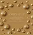 realistic gold spheres on surface vector image vector image