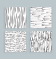 set abstract samless patterns doodles lines vector image vector image