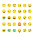Set of cute smiley emoticons emoji flat design vector image vector image