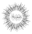 set of hookahs circle vector image vector image