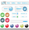 Set of web navigation vector image