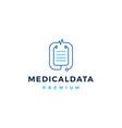 stethoscope medical data logo icon vector image