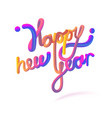 stock happy new year font vector image vector image