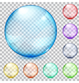 Transparent glass spheres vector image vector image