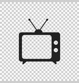 tv icon in flat style isolated on isolated vector image vector image