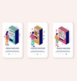 vending machine mobile app onboarding screens vector image vector image