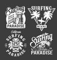 vintage surf monochrome emblems vector image vector image