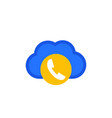 voip telephony icon flat on white vector image
