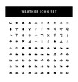 weather icon set with glyph style design vector image vector image