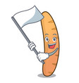 with flag baguette mascot cartoon style vector image