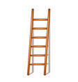 wooden ladder with shadow vector image vector image