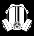 gas mask black and white 02 vector image