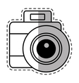 photo camera picture vacation travel shadow vector image