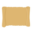 Ancient scroll clean Old blank parchment Retro vector image