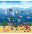 Underwater ocean life under the waves vector image
