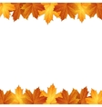 Border of autumn maples leaves vector image