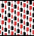 seamless pattern with nail polish bottles vector image