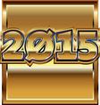 2015 golden effect vector image