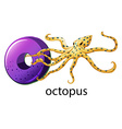 A letter O for octopus vector image