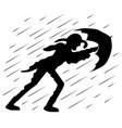 a man with an umbrella vector image
