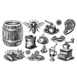 a set black and white different kinds vector image vector image