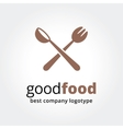 Abstract logotype for restaurant concept isolated vector image vector image