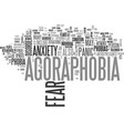 agoraphobia get out of the market and conquer vector image vector image