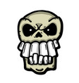 angry painted skull vector image
