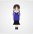 angry schoolgirl character eps file vector image