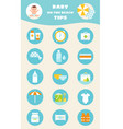 baby on beach tips children sun and water safety vector image