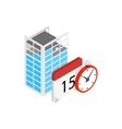 Building under construction calendar clock icon vector image vector image